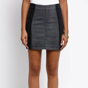 NEW Free People Color Block Mini Skirt 4 Small